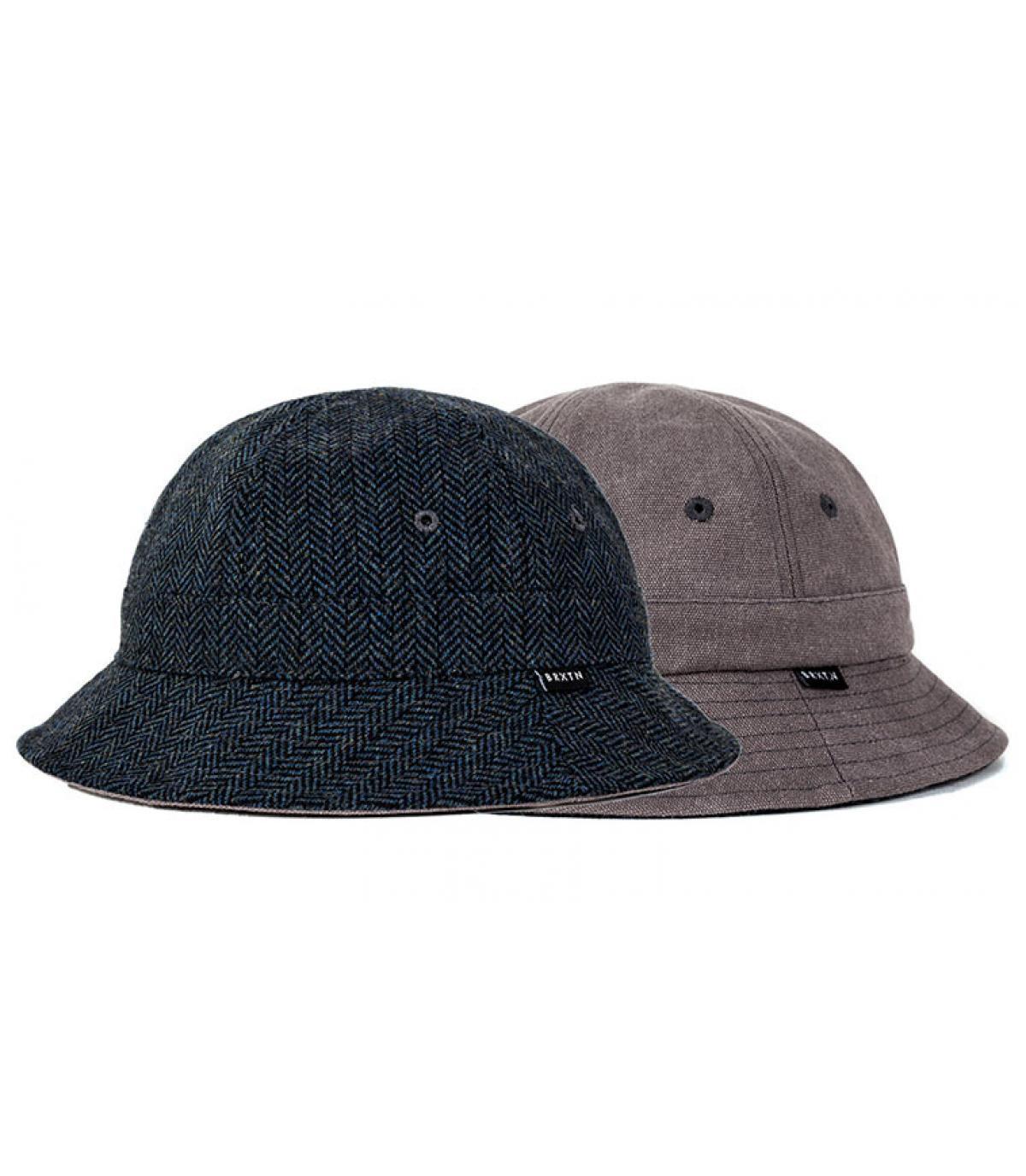 Détails Banks bucket hat navy grey - image 2