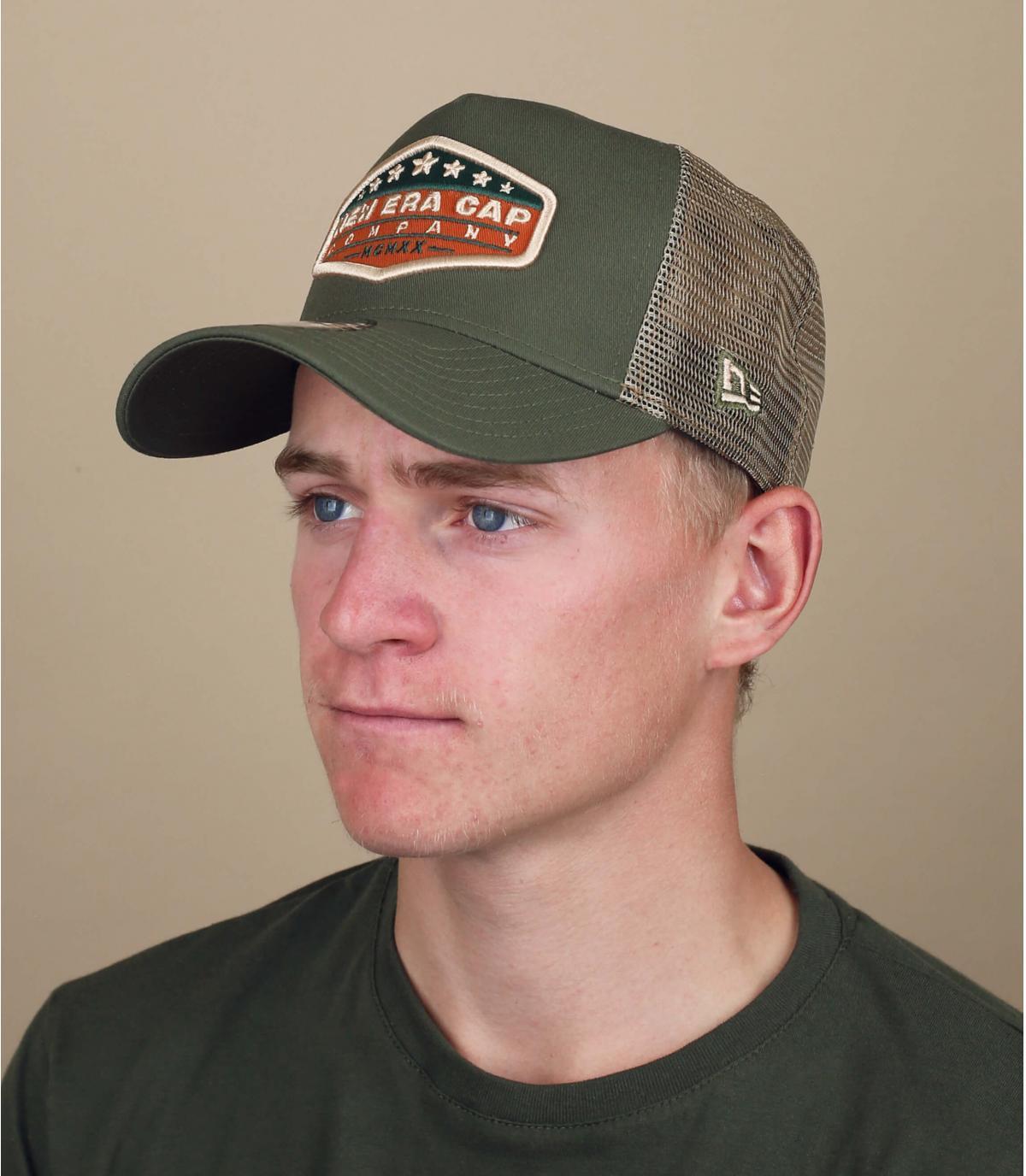 trucker New Era vert