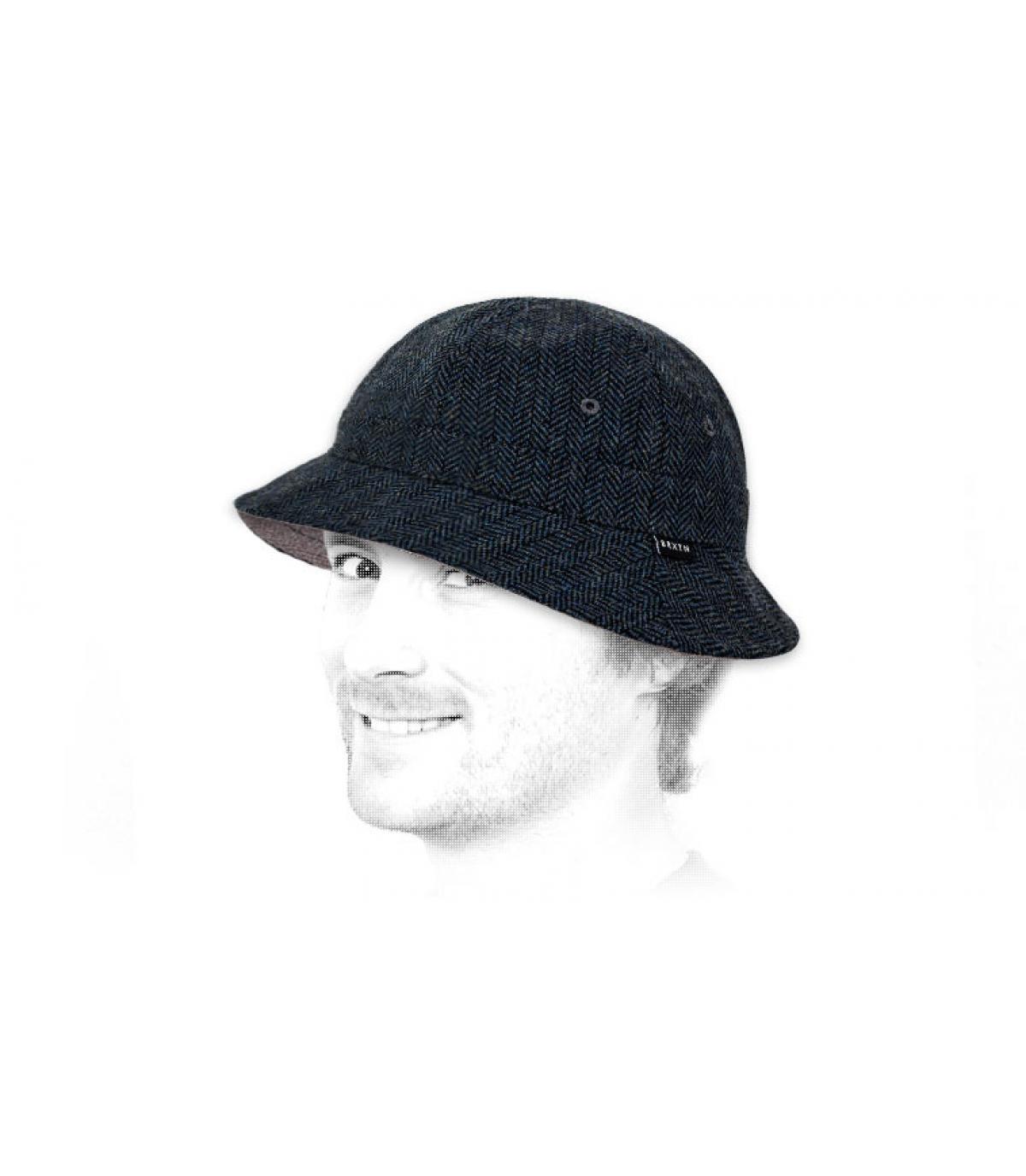 Détails Banks bucket hat navy grey - image 3