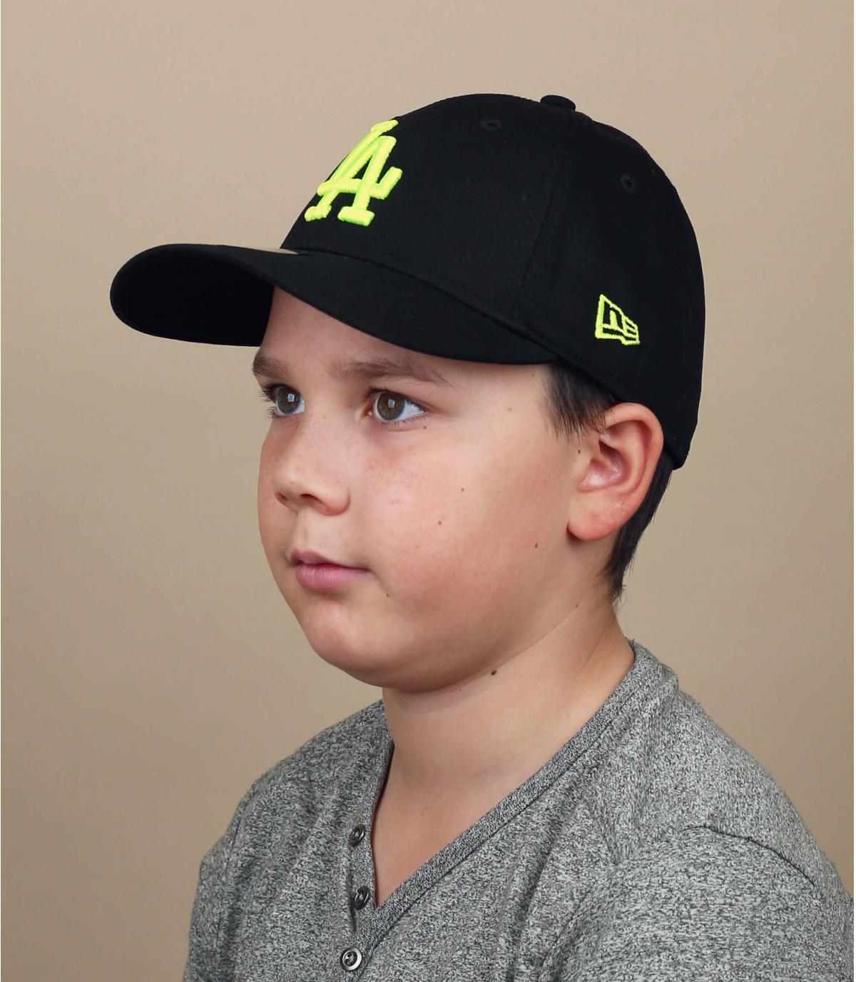 casquette enfant LA noir jaune