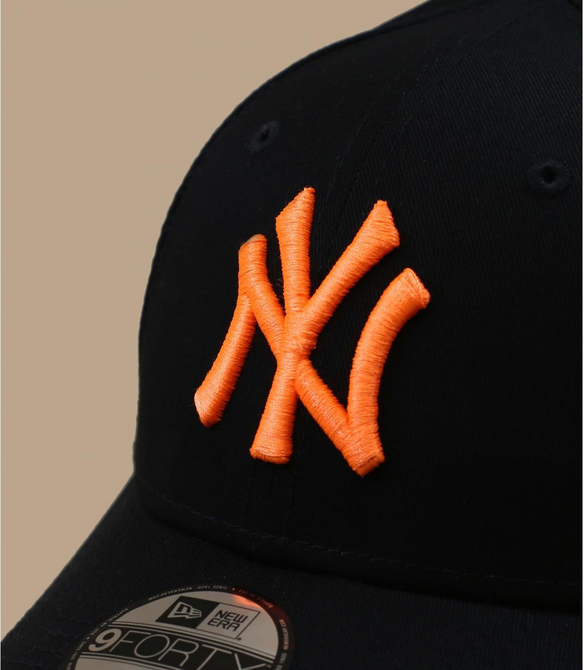 casquette NY enfant noir orange
