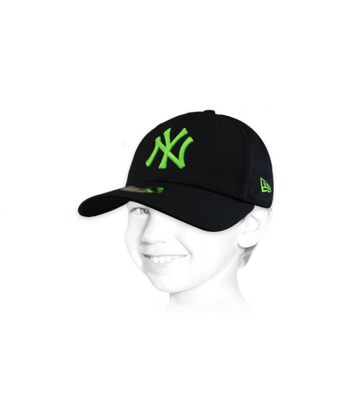 casquette NY enfant noir vert