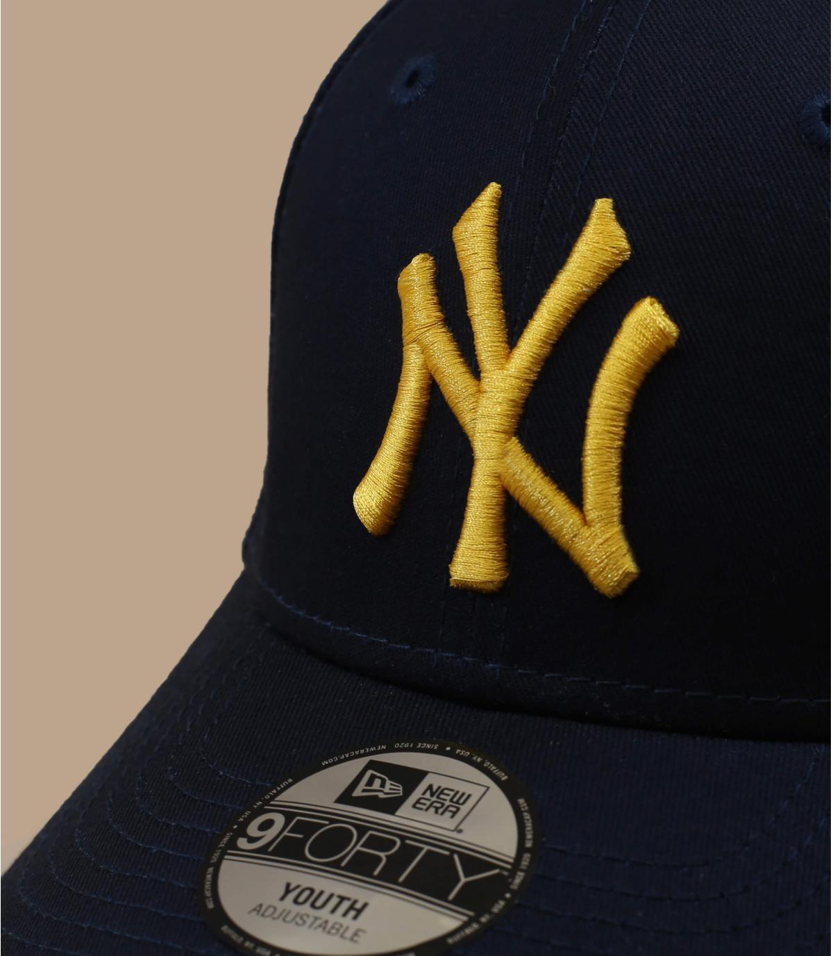 Détails Casquette Kids League Ess 940 NY navy yellow - image 2