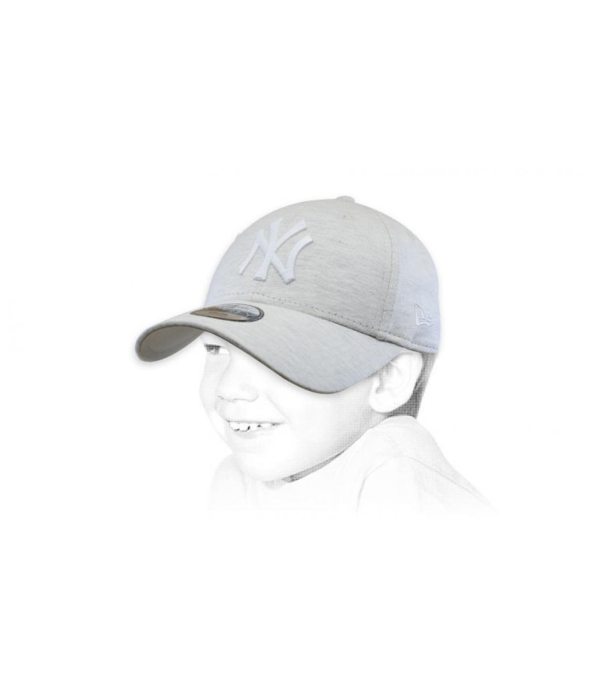 casquette enfant beige NY