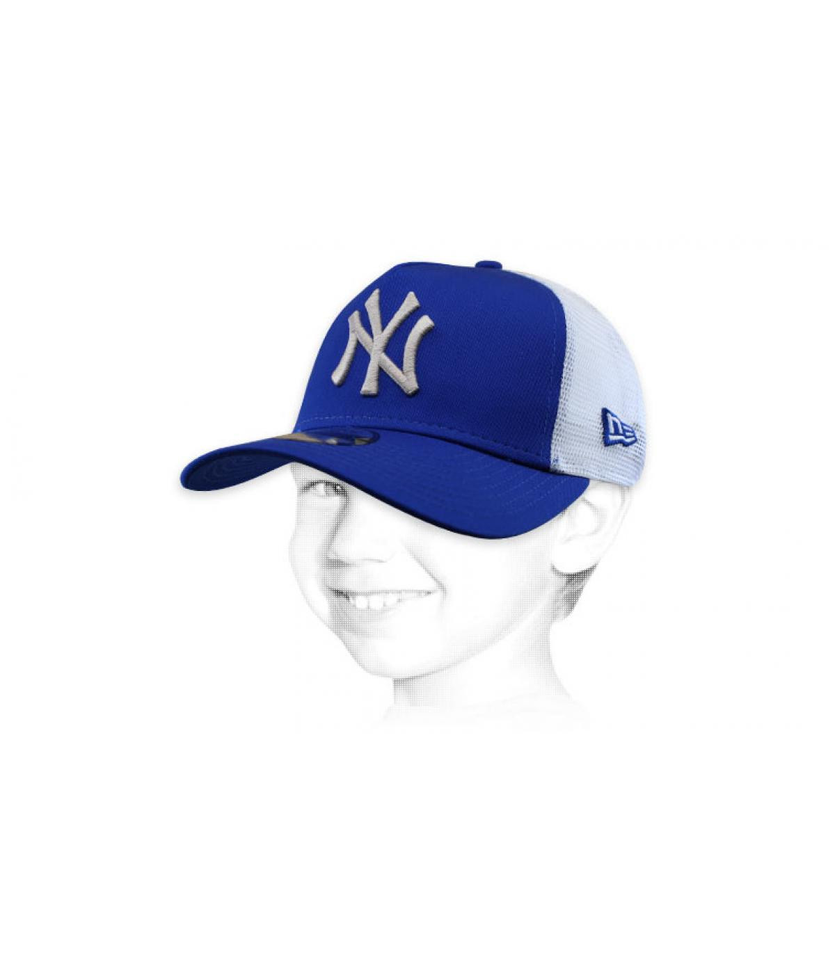 trucker enfant NY bleu