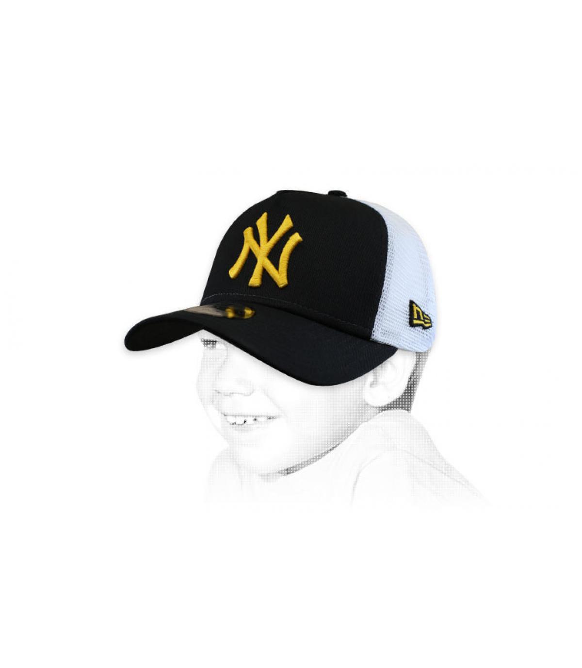 trucker enfant NY noir jaune