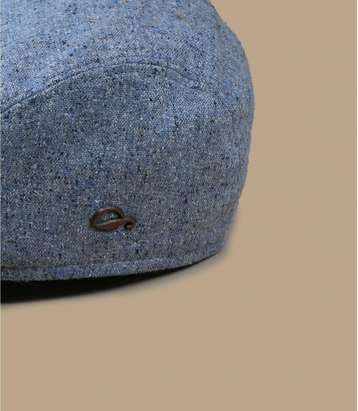 béret soie bleu