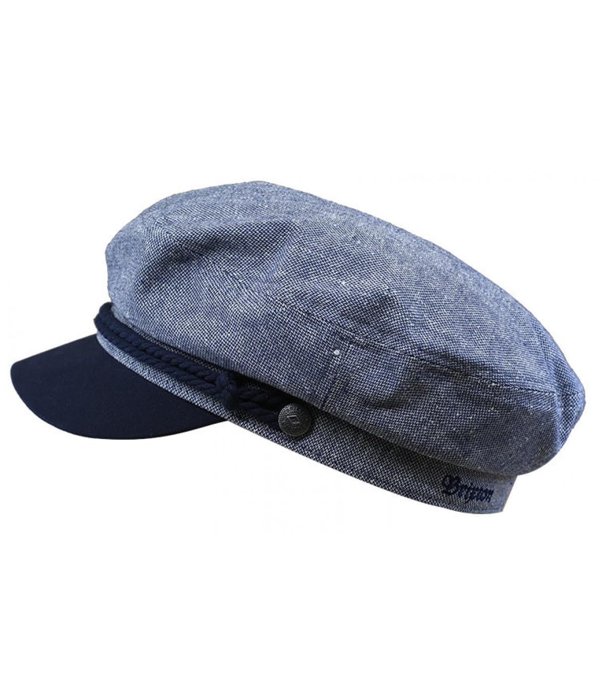 casquette marin bleu gris
