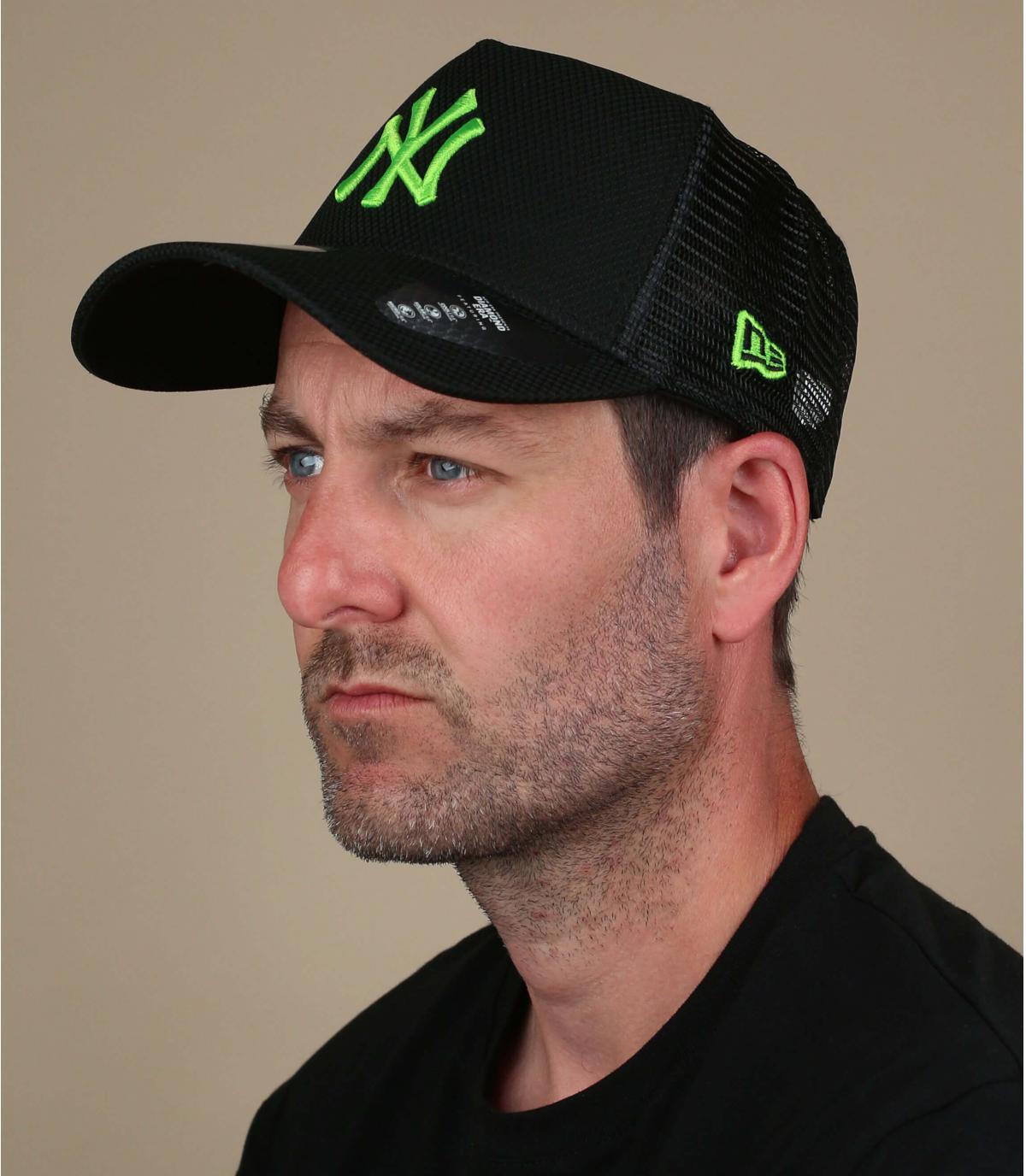 trucker NY noir vert