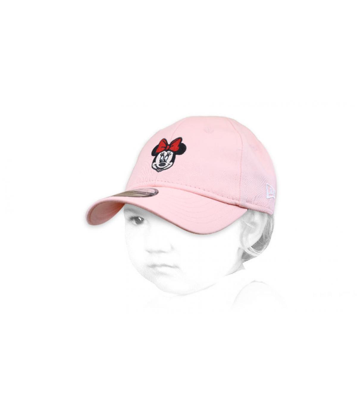 casquette bébé Minnie rose