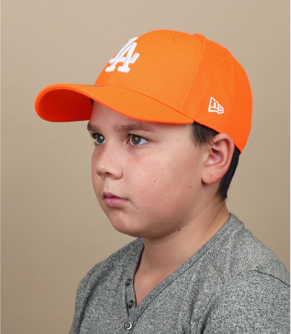casquette enfant LA orange