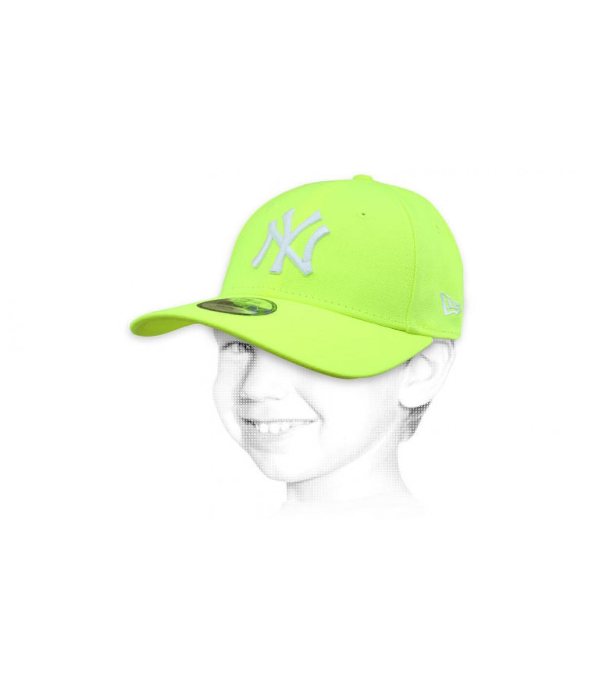 casquette enfant NY jaune