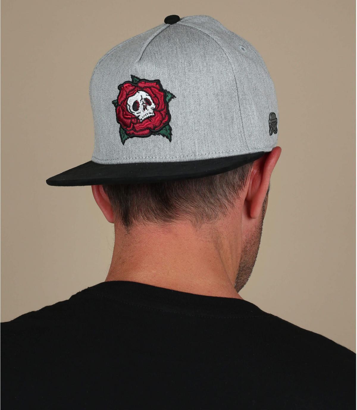 casquette tête-de-mort gris