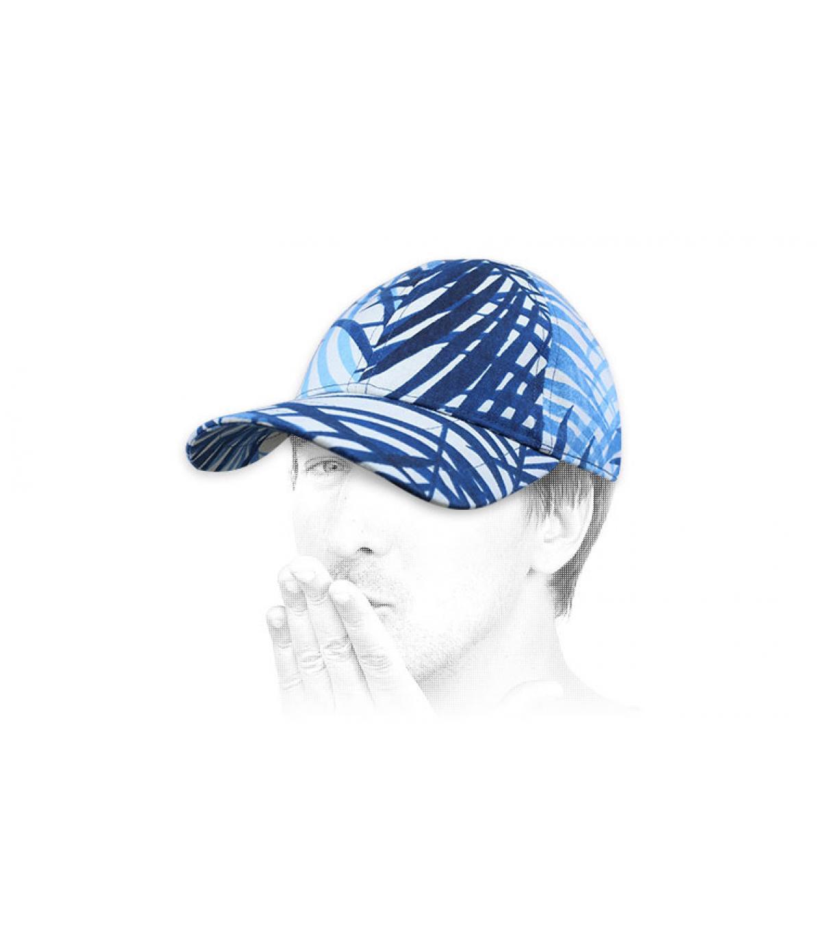 casquette Chapoté bleu blanc