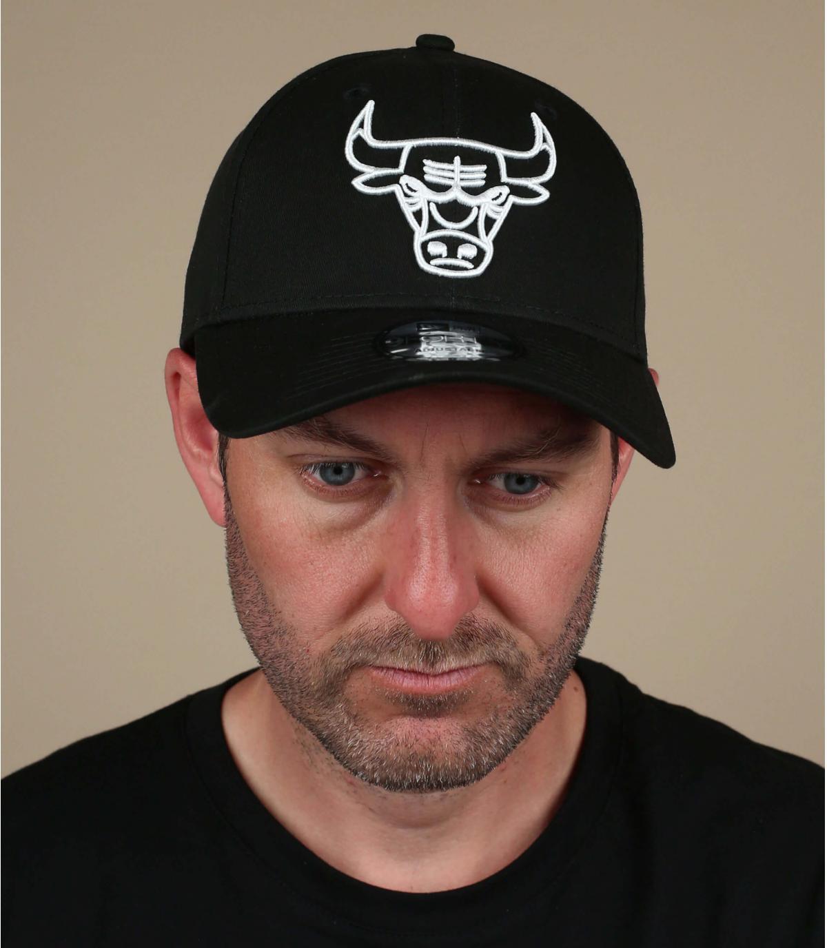casquette Bulls noir blanc