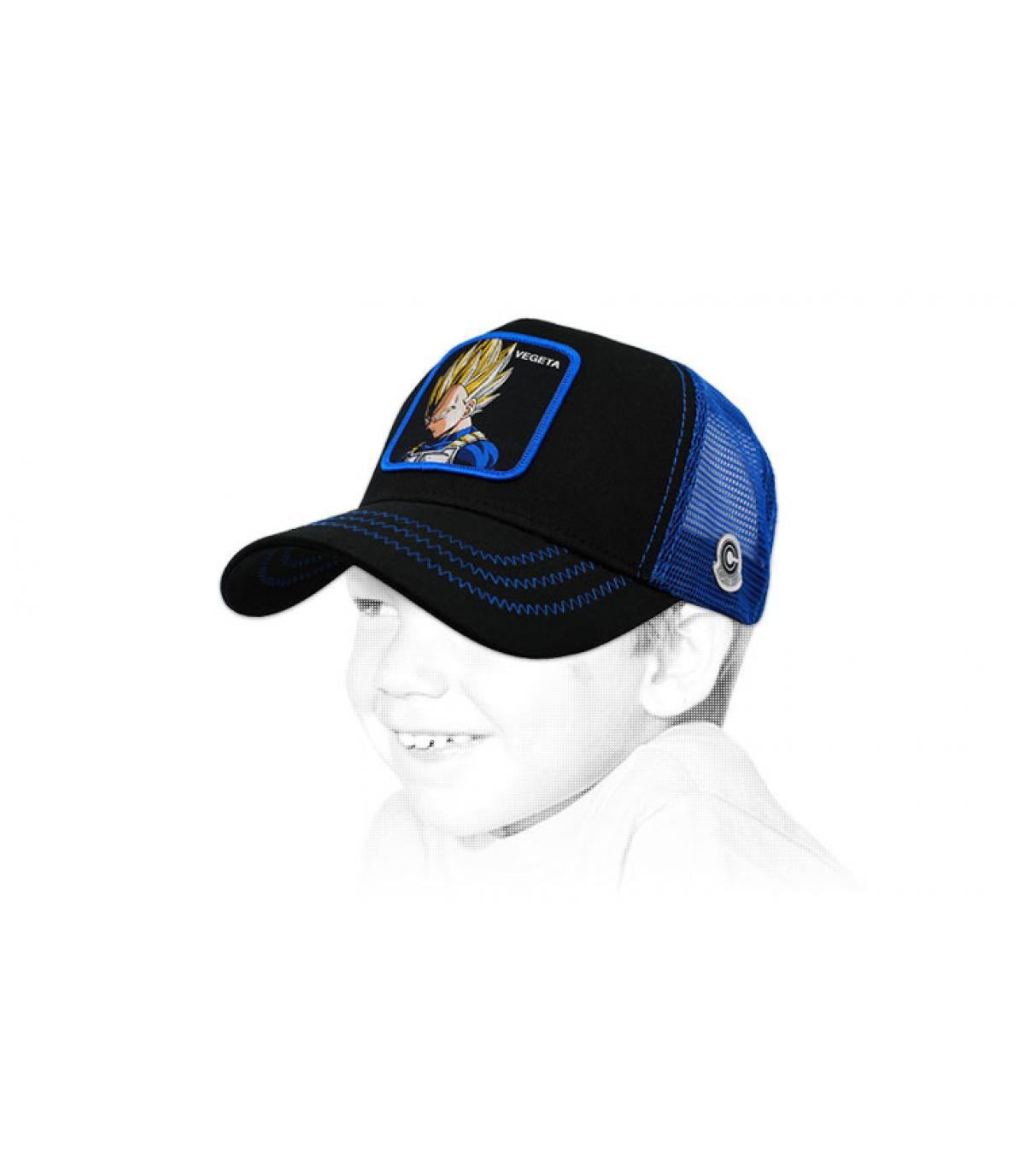 trucker enfant Végéta bleu