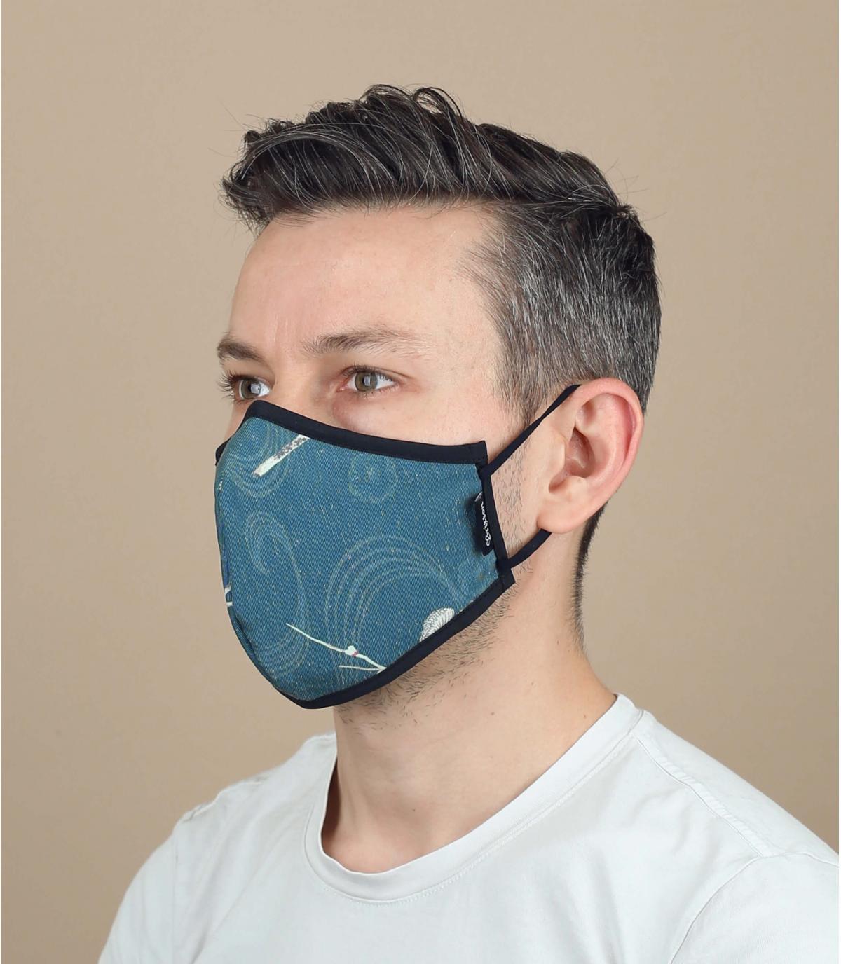 masque fleurs coronavirus