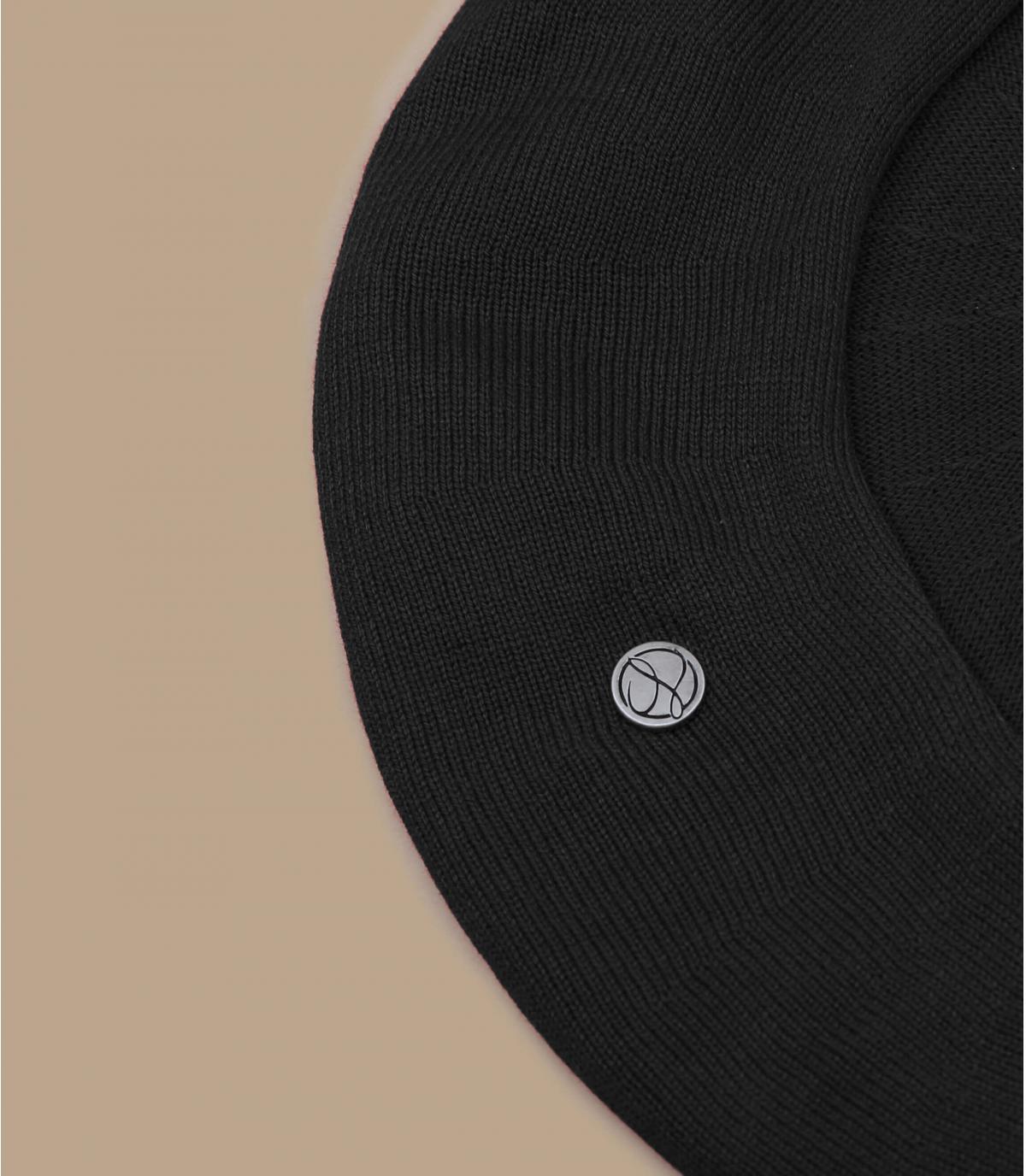 béret coton noir