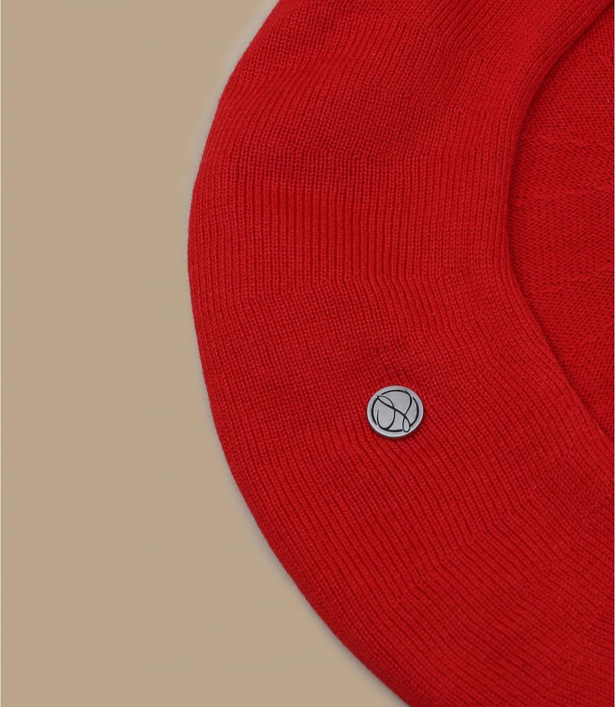 béret coton rouge