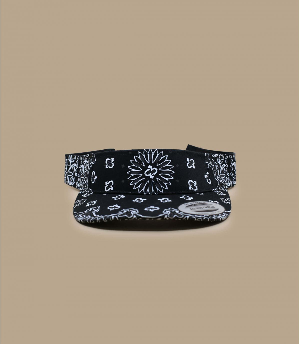 Visière bandana noir