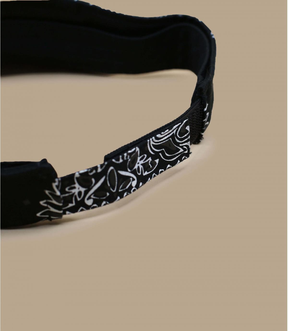 Détails Visière bandana black - image 3