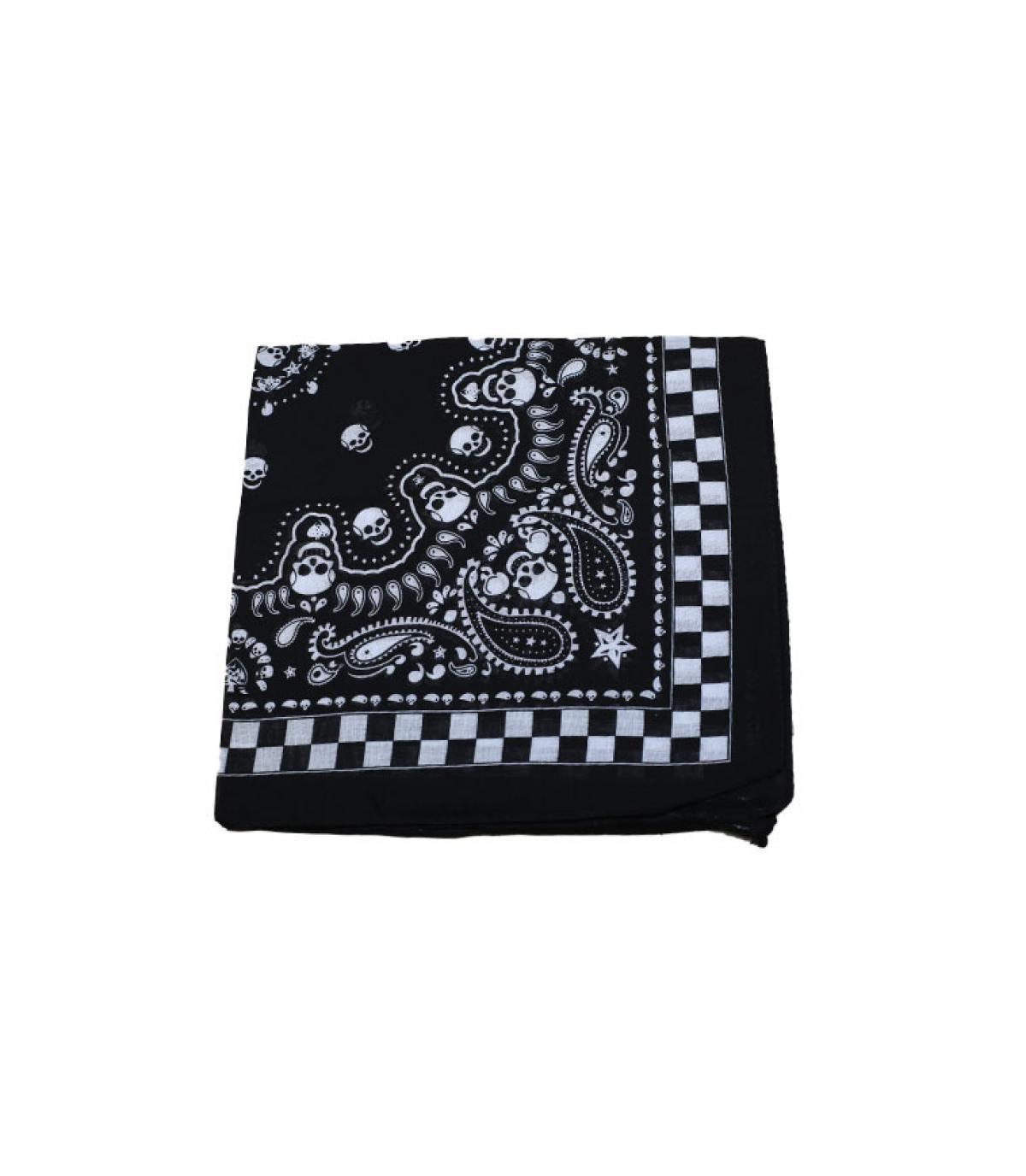 bandana tête de mort noir