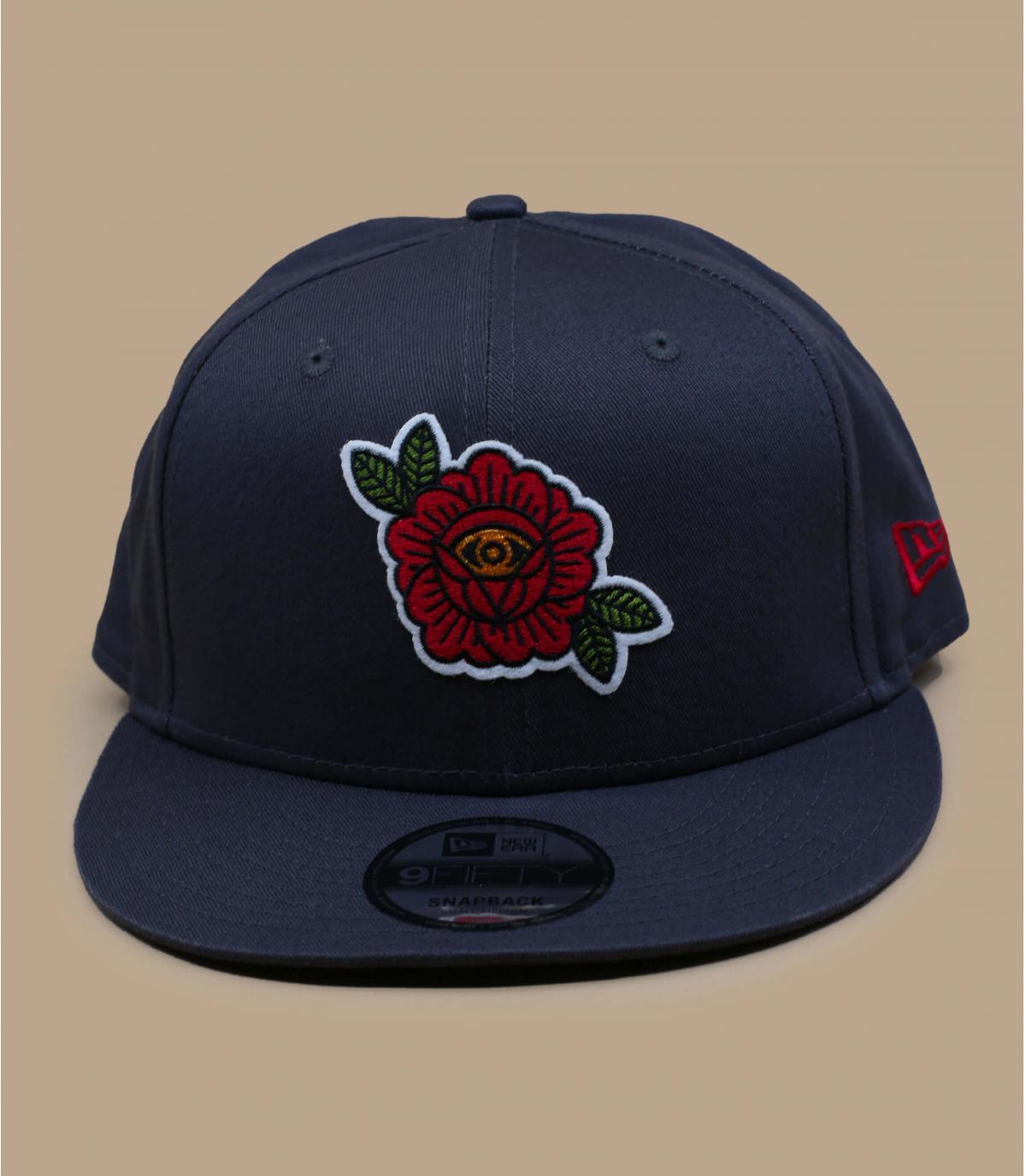 casquette brodée rose noir