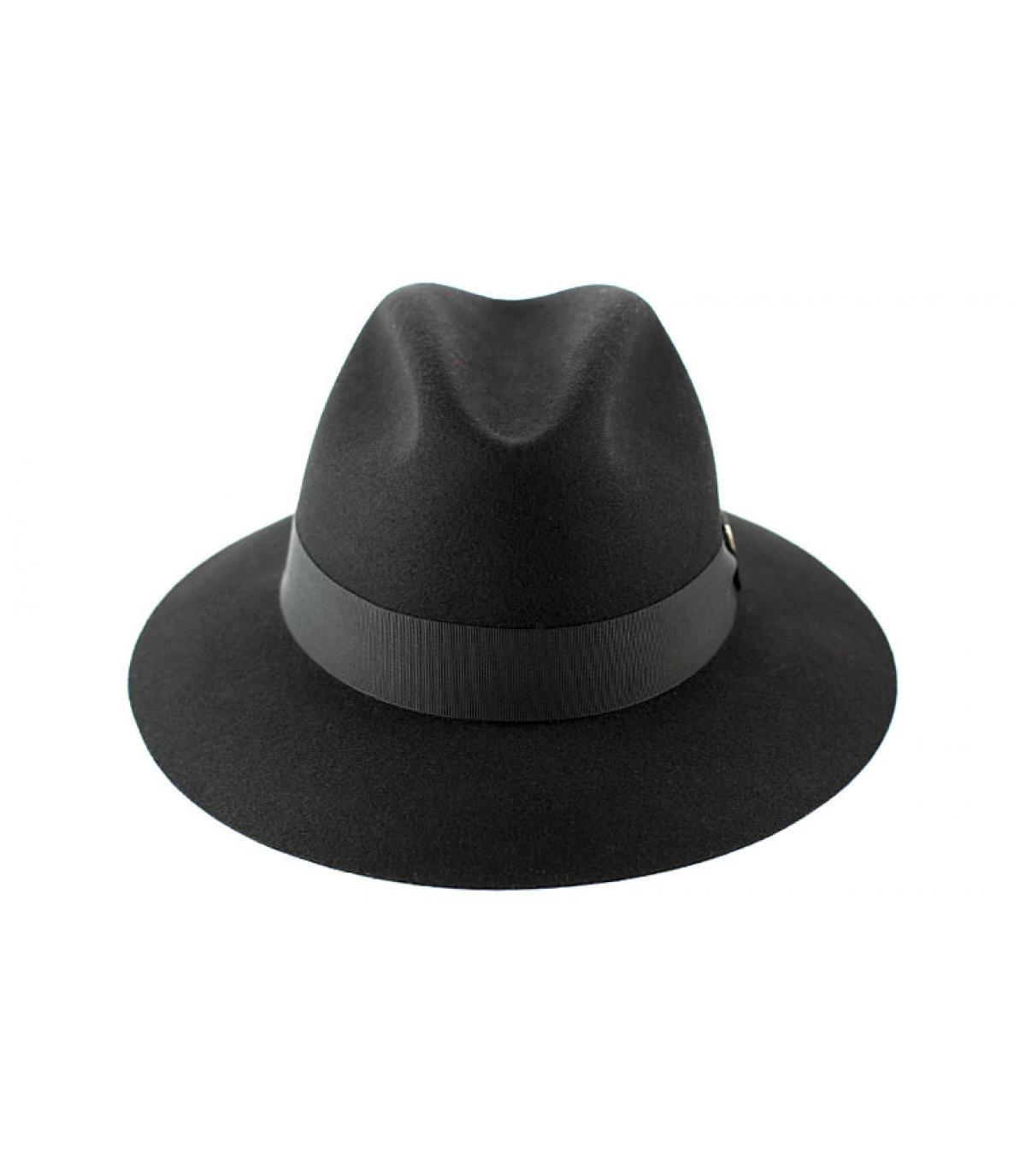 chapeau feutre doria noir chapeau feutre 44l noir par doria. Black Bedroom Furniture Sets. Home Design Ideas