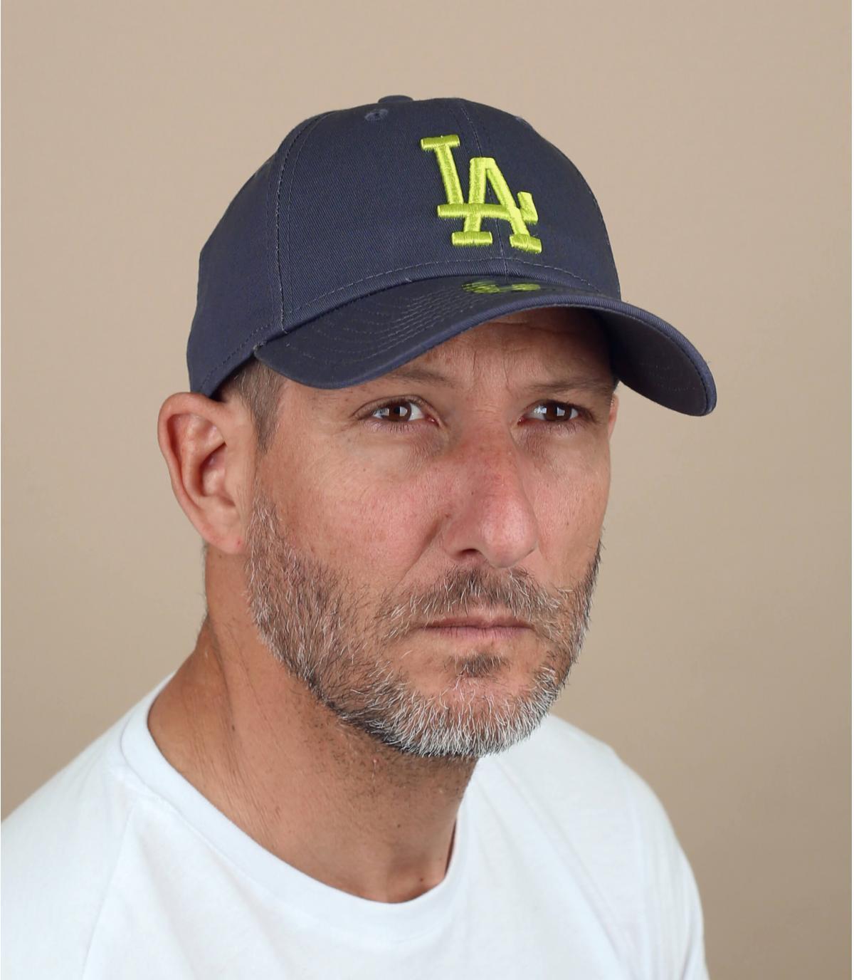 casquette LA gris jaune