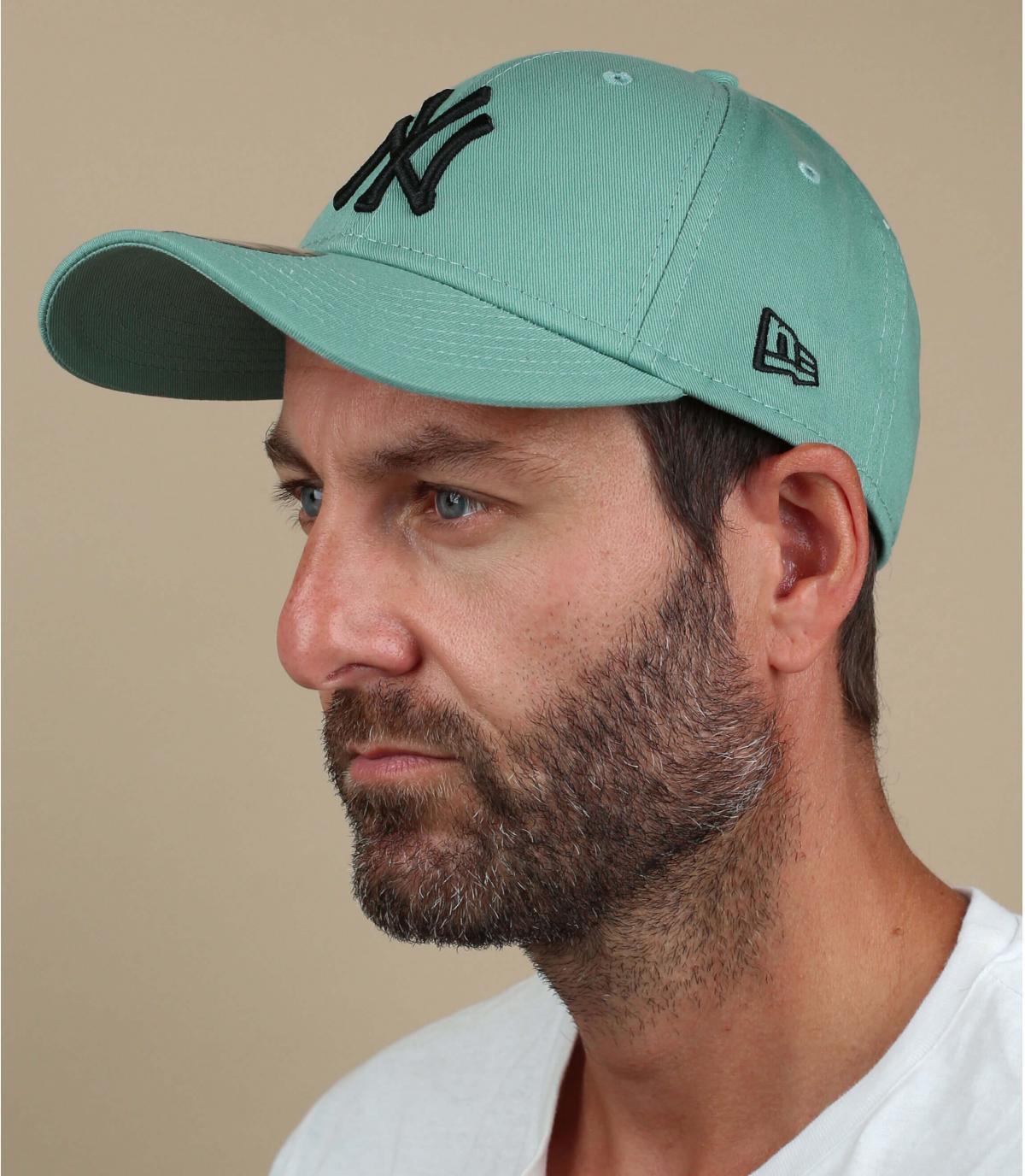 casquette NY vert noir