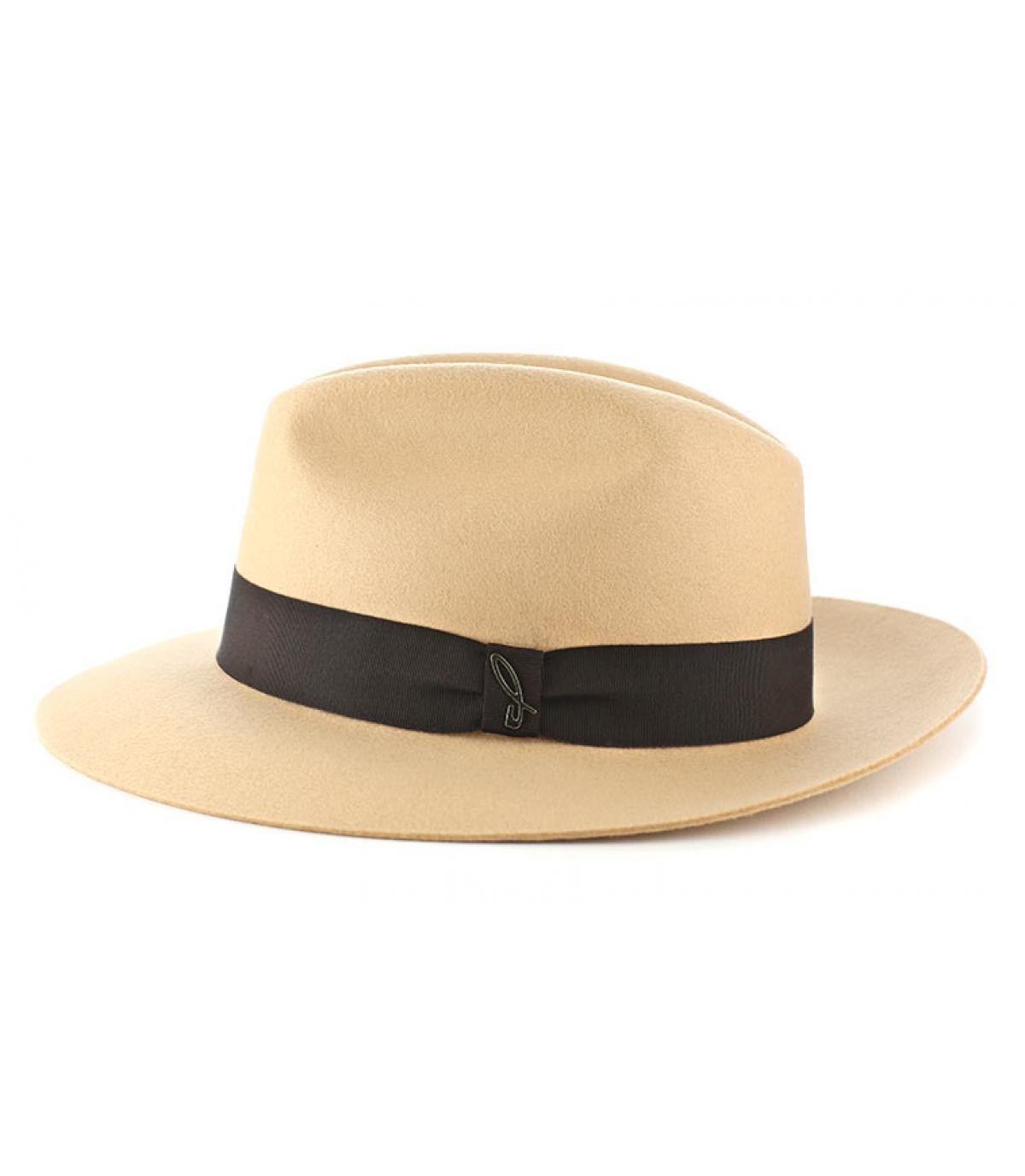 Chapeau feutre Doria beige