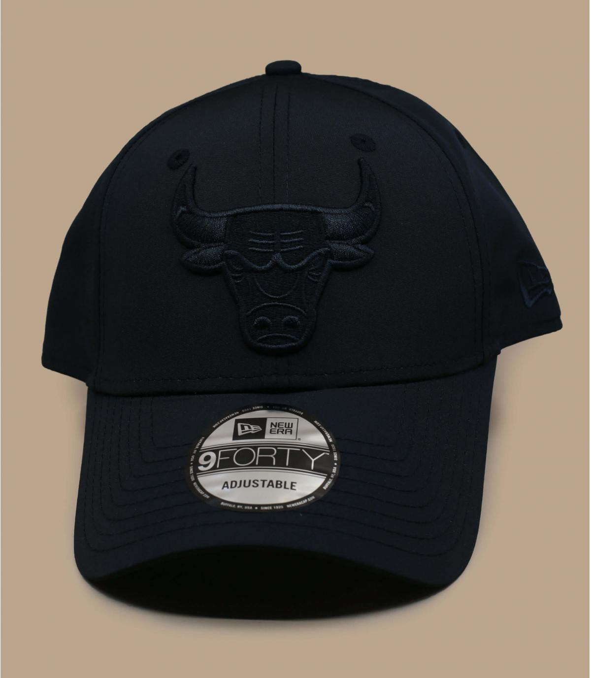 casquette Bulls noir nylon
