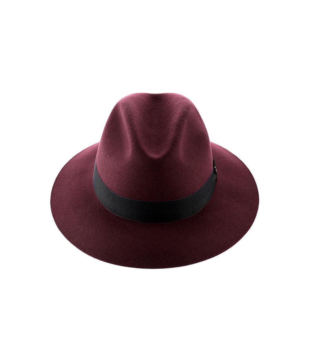 chapeau femme doria bordeaux chapeau feutre 44l bordeaux. Black Bedroom Furniture Sets. Home Design Ideas