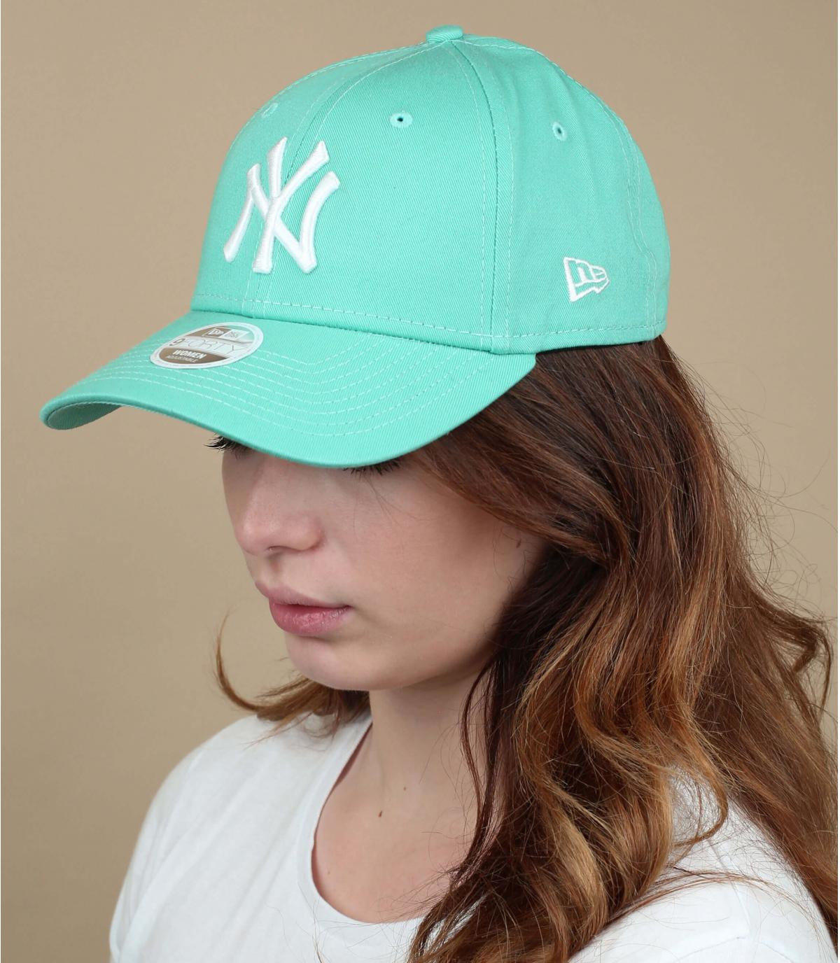 casquette NY femme vert