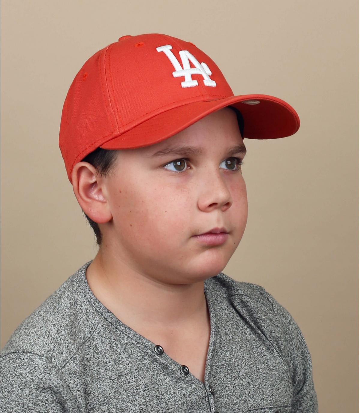 casquette enfant LA rouge