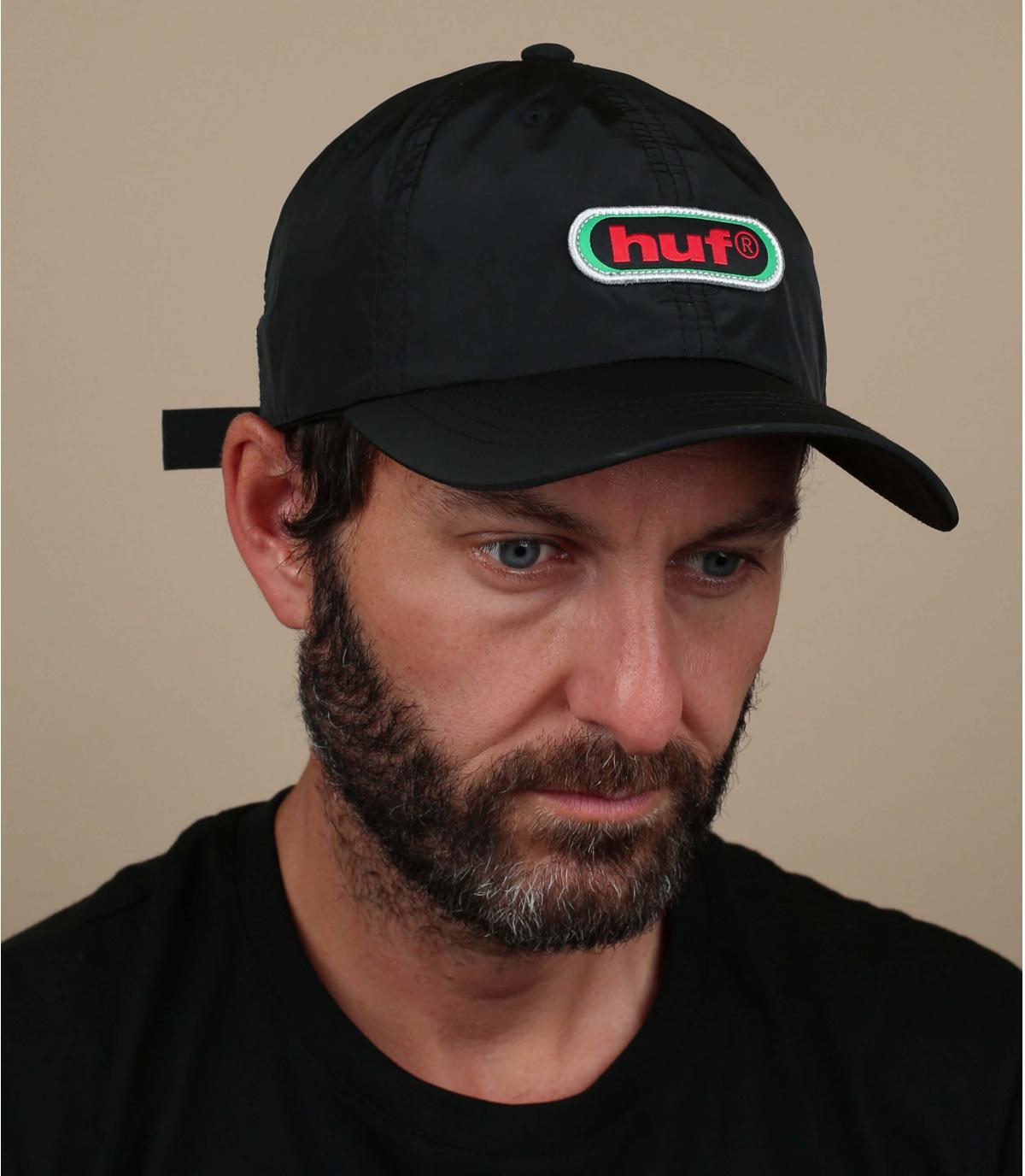 casquette noir Huf rétro