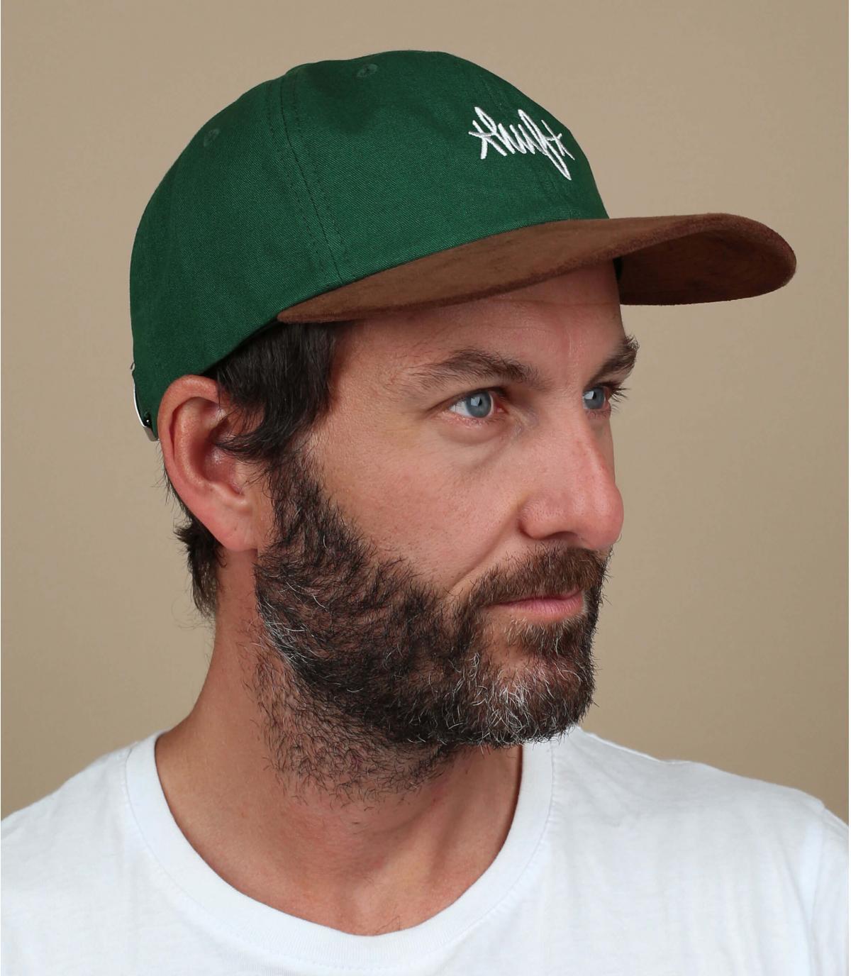 casquette Huf vert suède