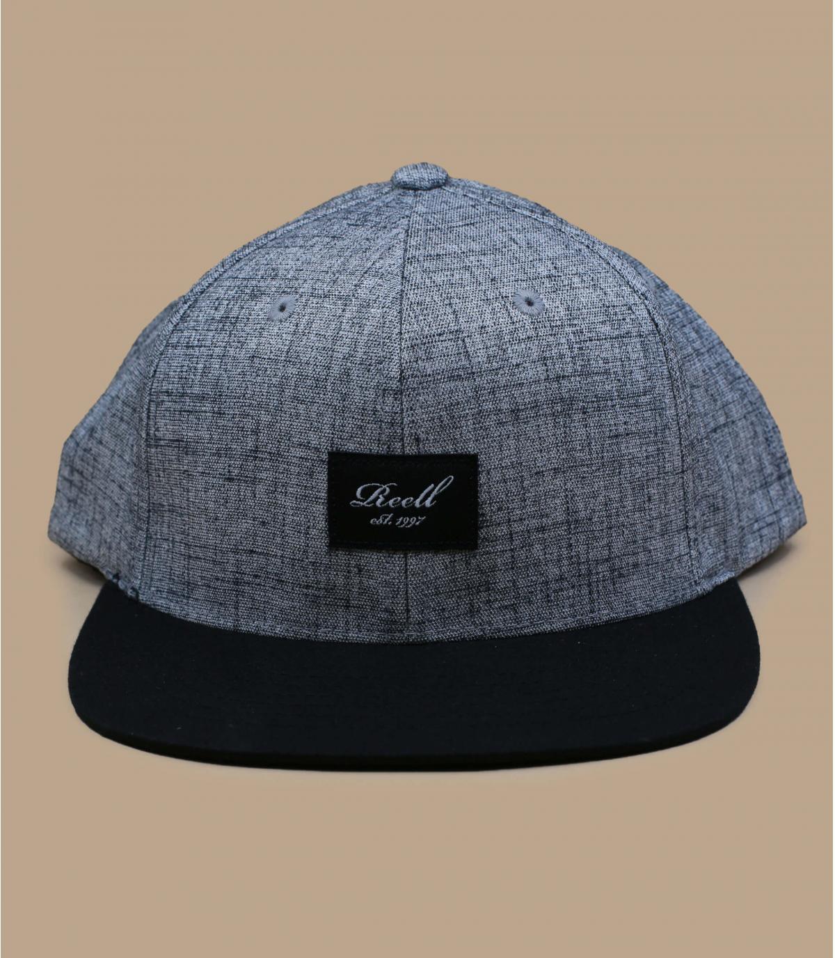 casquette gris chiné noir Reell