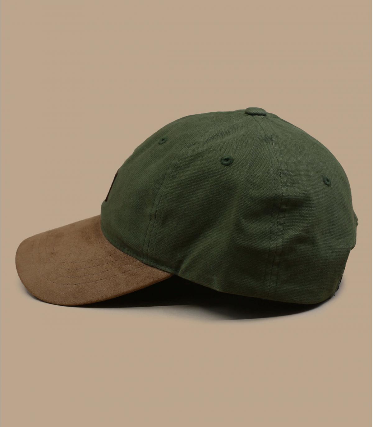 casquette curve vert suède