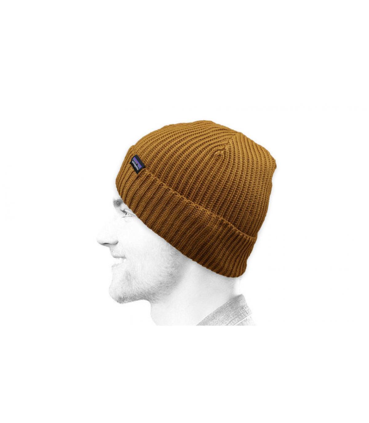 bonnet beige revers Patagonia