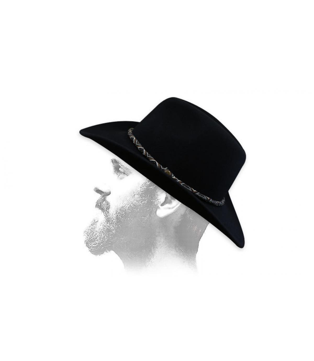 chapeau cowboy feutre beige