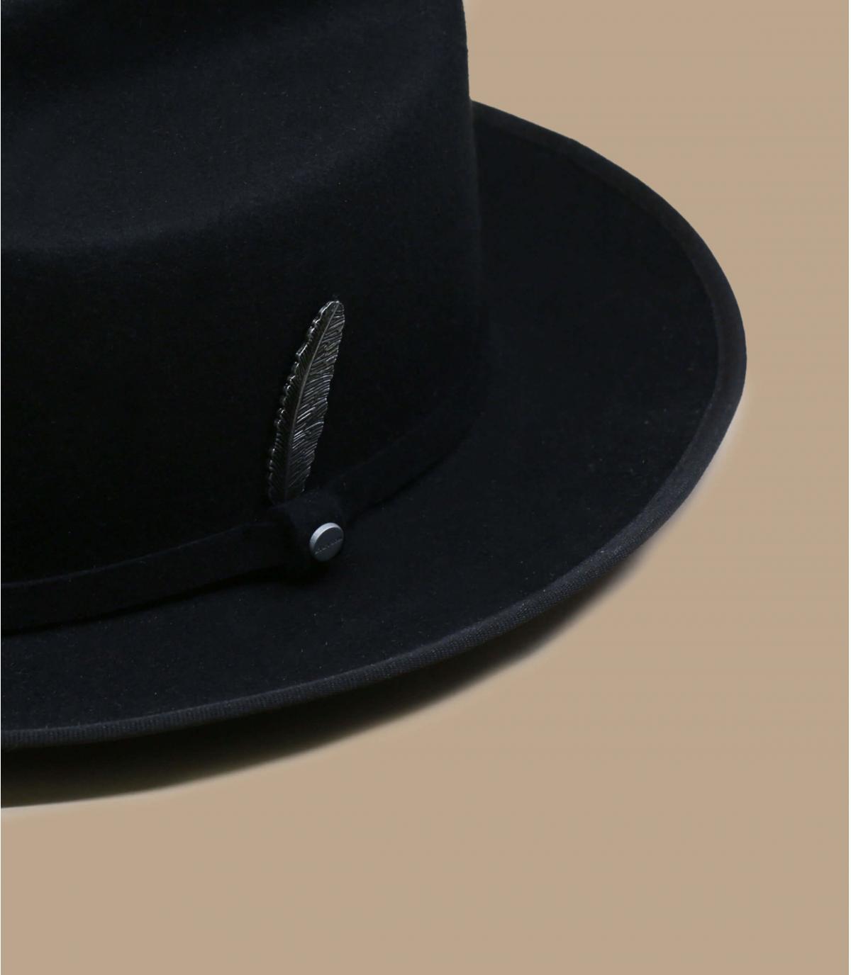 chapeau feutre noir Stetson