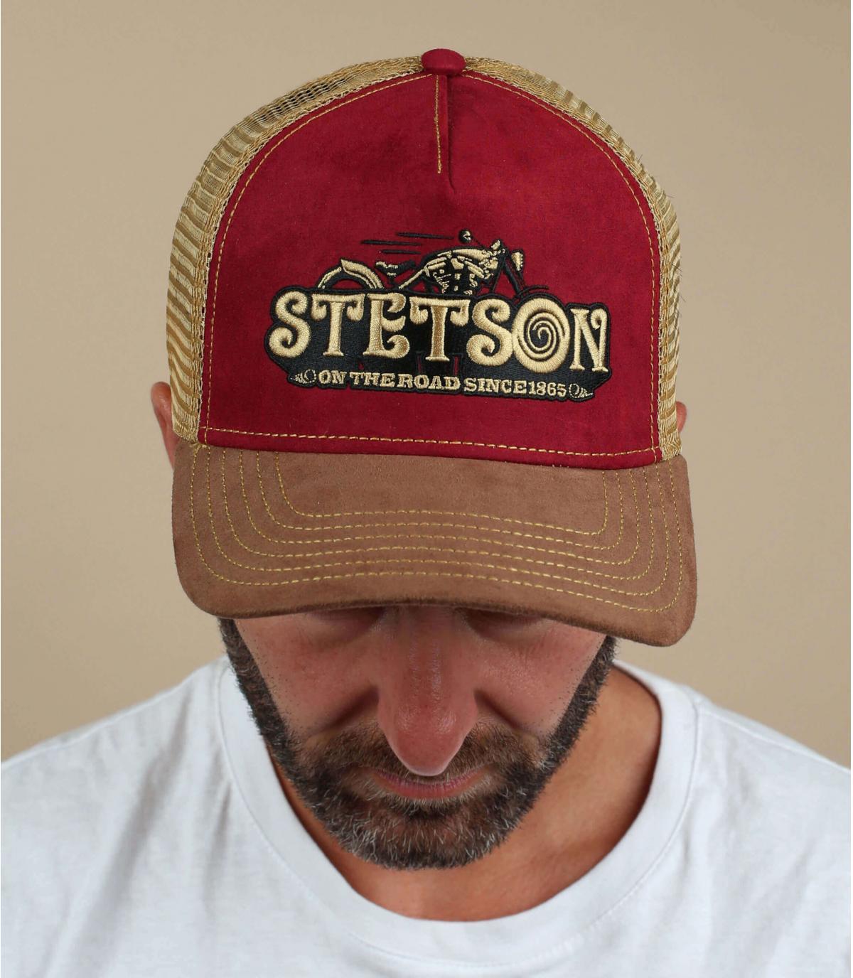 trucker bordeaux moto Stetson
