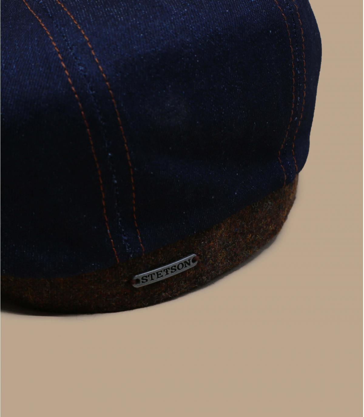 casquette gavroche bleu jean