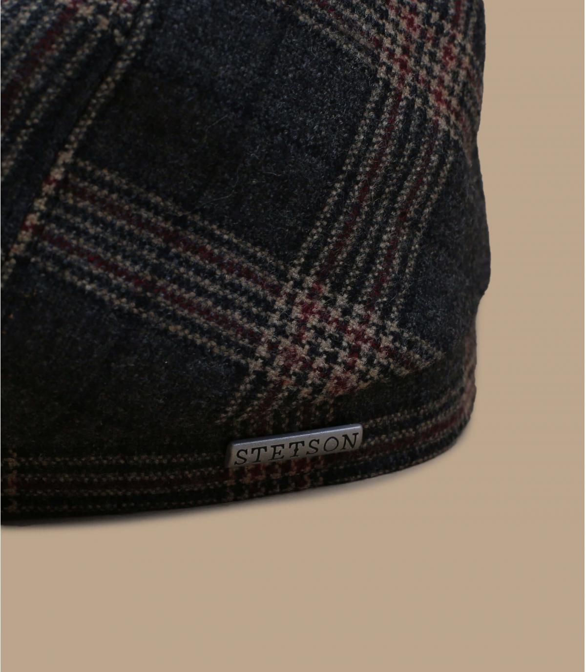 Détails 6-Panel Cap Wool Check grey brown - image 2