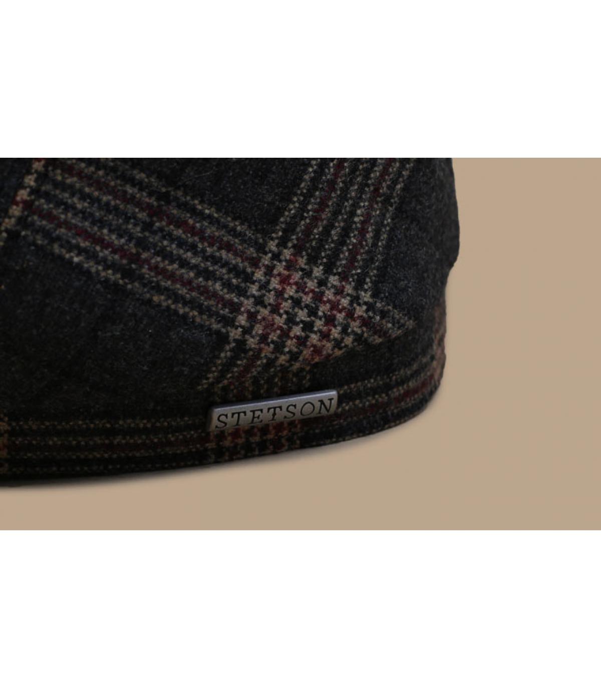 Détails 6-Panel Cap Wool Check grey brown - image 3