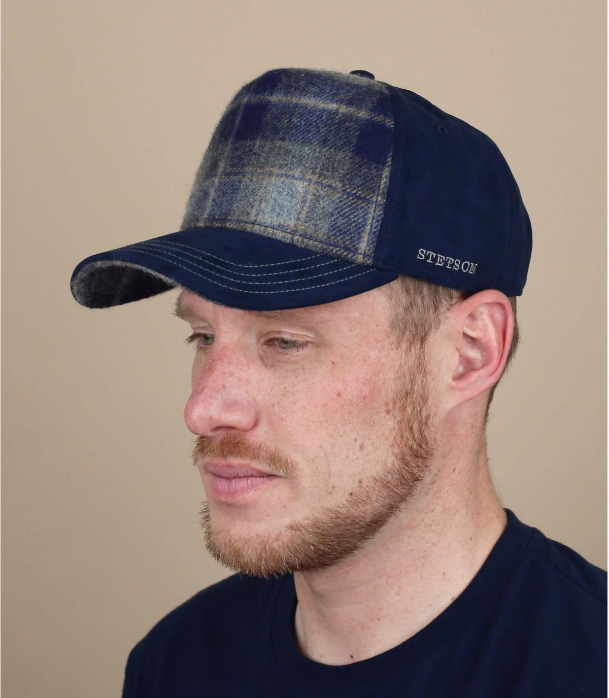 trucker laine bleu