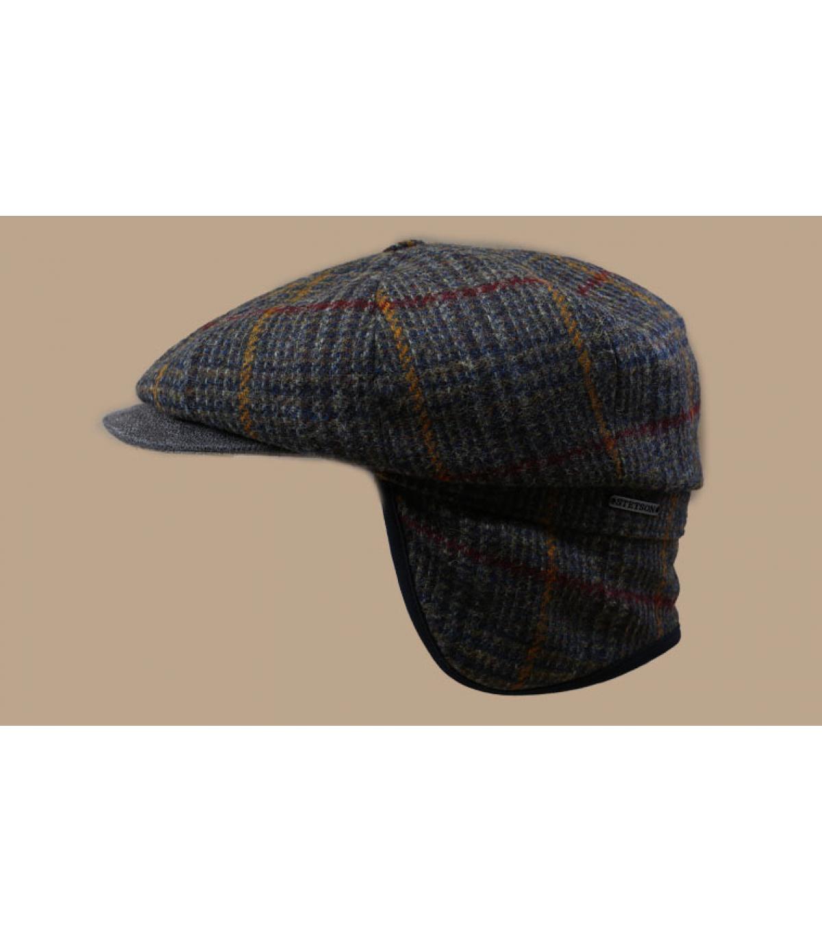 Détails Hatteras EF Wool olive brown check - image 3
