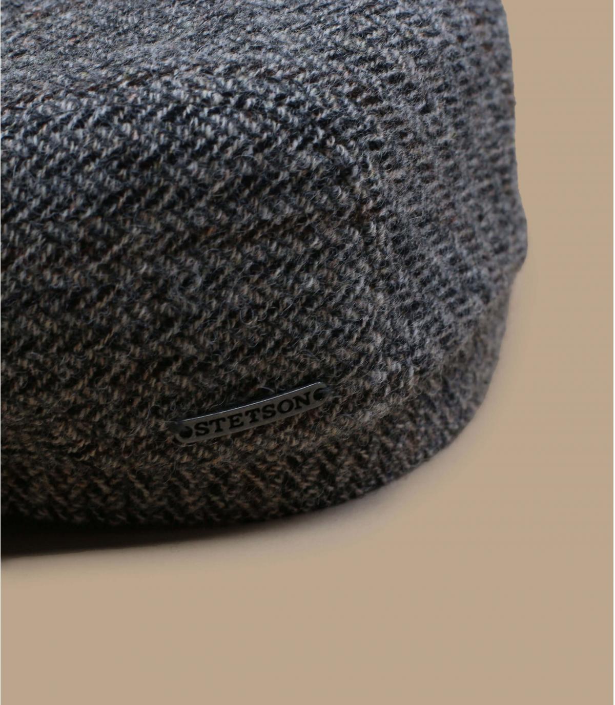Détails Driver Cap Virgin Wool Herringbone grey - image 2