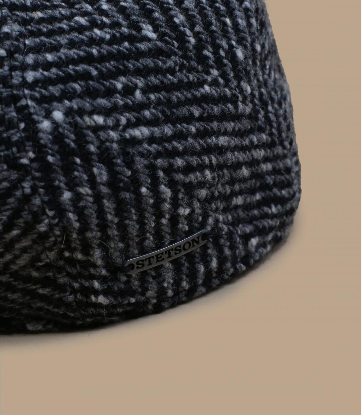 béret laine noir blanc